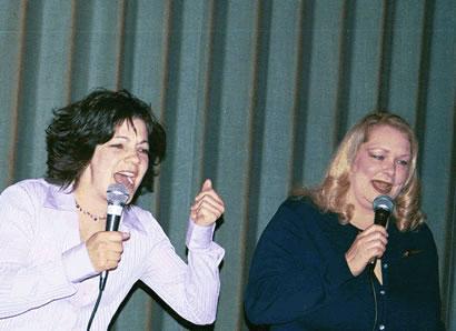 Stacy and Linda sing I Will Survive by Gloria Gaynor