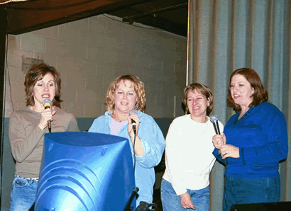 Tammy, Beth, Terri and Becky sing I Will Survive by Gloria Gaynor